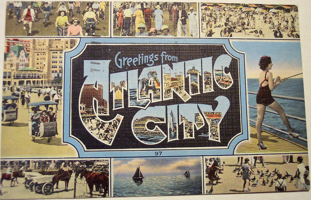 Greeting from Atlantic City Postcard