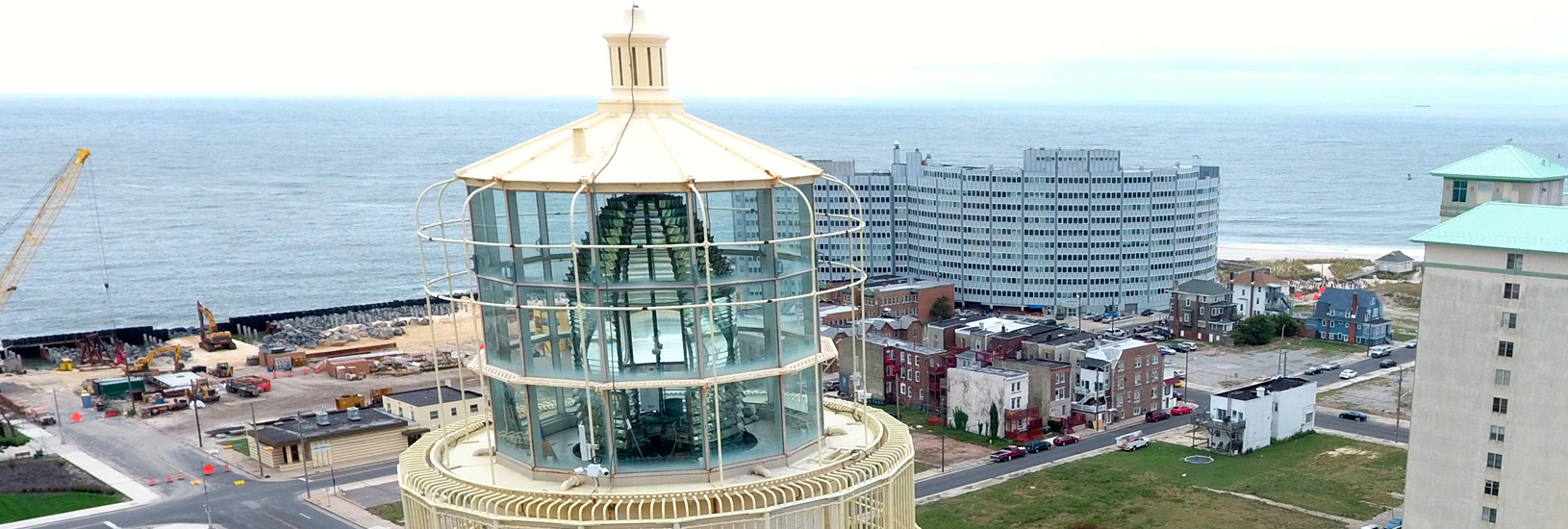 Lighthouse Lens from Drone